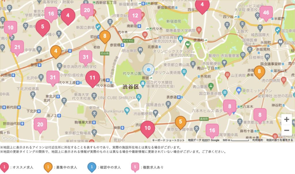 ケアキャリサーチ 地図 求人検索