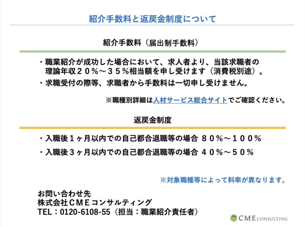 CME薬剤師 紹介料 返戻金制度